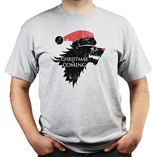 Christmas Winter is Coming Stark Games and Thrones T-shirt Grau