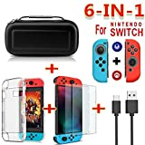 DSstyles for Nintend Switch Travel Carrying Bag Screen Protector Case Charging Cable Black
