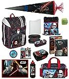 Familando Star Wars Schulranzen-Set 17tlg. Federmappe, Sporttasche, Schultüte 85cm Scooli mit Regenschutz