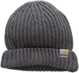 Carhartt Unisex Fedora Rib Beanie, Grau (Dark Grey Heather), One Size