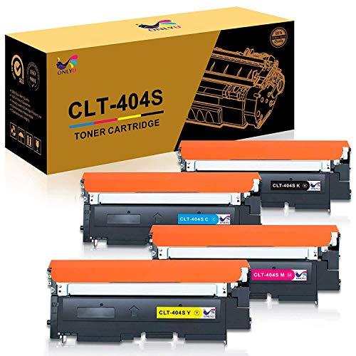 ONLYU CLT-404S Tonerkartusche CLT-K404S CLT-C404S CLT-M404S CLT-Y404S Kompatibel mit Samsung Xpress C480 Samsung C480W Samsung SL C480 C480W SL C480FW SL C480FN C430 C430W Drucker 4-Pack