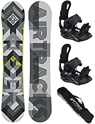 AIRTRACKS SNOWBOARD SET - TABLA CUBO MAN 168 - FIJACIONES MASTER XL - SB BAG/NUEVO