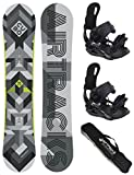 AIRTRACKS SNOWBOARD SET - BOARD CUBO MAN 168 - SOFTBINDUNG MASTER L - SB BAG