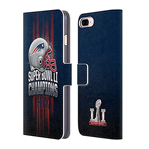 Official NFL New England Patriots 1 2017 Super Bowl Li Champion Leather Book Wallet Case Cover For Apple iPhone 7 Plus