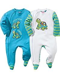 Baby Butt Schlafanzug 2er-Pack mit Druckmotiv Schildkröte Interlock-Jersey