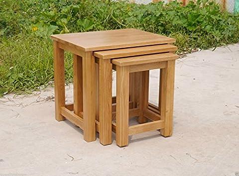 Opus Oak Nest of Tables