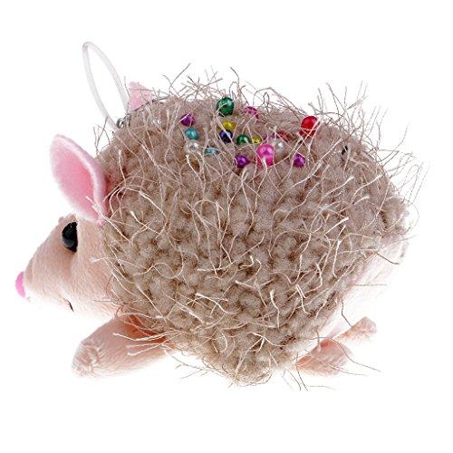 D dolity cuscino a forma di riccio a maglia, cuscino ad aghi, supporto a pin per camiceria per bambini