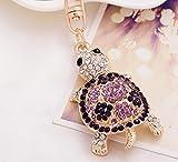 Kristall Strass Schildkröte Schlüsselanhänger Charm Anhänger Geldbörse Tasche Schlüssel Ring Kette Geschenk von fhouses
