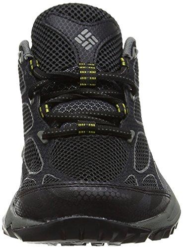 Columbia CONSPIRACY IV, Chaussures de Randonnée Basses homme Noir (Black, Electron Yellow 010)
