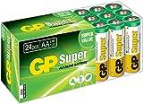 Batterien Mignon AA LR6 Vorratspack 24 Stück GP Batteries Super Alkaline (03015AB24) inklusive praktischer PET Aufbewahrungsbox