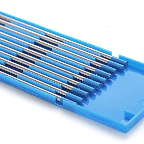 TEN-HIGH Tig Electrodos de tungsteno, lantano 2%, electrodo de tungsteno de cerio WL20 (azul), paquete de 1.6 mm x175 mm 10 piezas