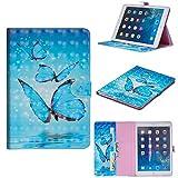 FNBK Hülle Kompatibel mit iPad Mini 4 Ledertasche Flip Case Smart Slim Schutzhülle PU Lederhülle Business Tasche mit Standfunktion Klapphülle für iPad Mini 4,Schmetterling