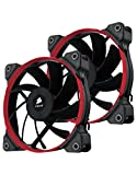 Corsair AF120 Performance Edition Ventilador de PC (120 mm, Alto Flujo de Aire) Paquete Doble