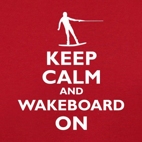 Keep Calm and Wakeboard On - Herren T-Shirt - 13 Farben Rot