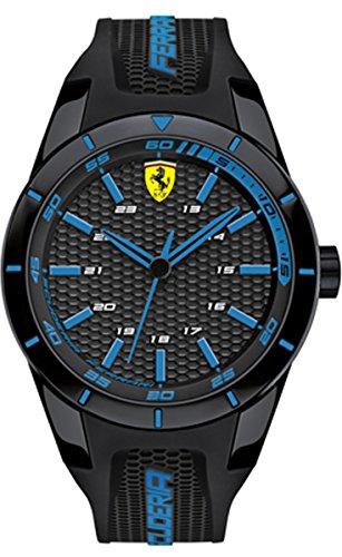 Scuderia Ferrari Orologi Orologio da uomo al quarzo display analogico e cinturino in silicone 0830247