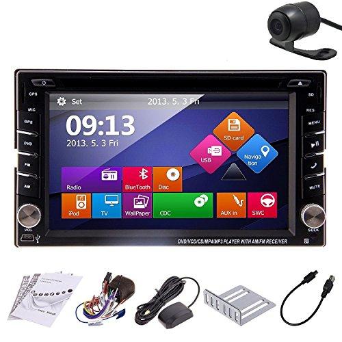 Haute Qualité ! chargeur GPS/PC Double 6.2 pouces 2 DIN pour tableau de bord de voiture Bluetooth pour lecteur DVD et Autoradio Navigation GPS à écran tactile avec carte Caméra de recul