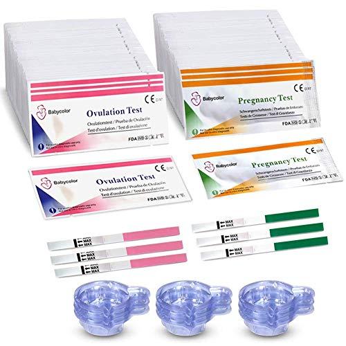 Ovulationstest 20 Miu, 50 Ovulationstest Streifen +20 Schwangerschaftstest, Ovulation Test, Fertilitätsmonitor Teststäbchen Fruchtbarkeit 20 Mlu/Ml Sensitivität