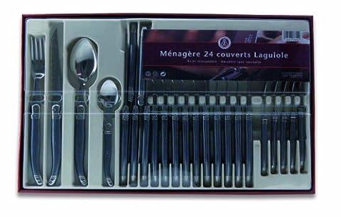 Menagere Couleur 24 Pieces - Laguiole Production 405784 Ménagère 24 Pièces Acier