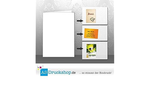 Paper24 Lot de 25 cartes doubles pliantes Blanc Format A6 300 g
