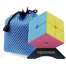 Roxenda Moyu Lingpo 2x2 Cubo de Velocidad Cubo Mágico 2x2x2 Puzzle Cube 50mm (Rosa)
