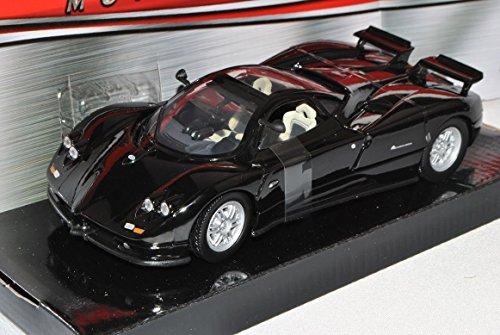 pagani-zonda-c12-coupe-schwarz-1-24-motormax-modell-auto-mit-individiuellem-wunschkennzeichen