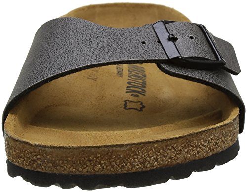 Birkenstock Madrid, Zoccoli Uomo, Various Grigio (Pull Up Anthracite)