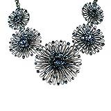 Konplott Distel Collier Halskette blau-8431