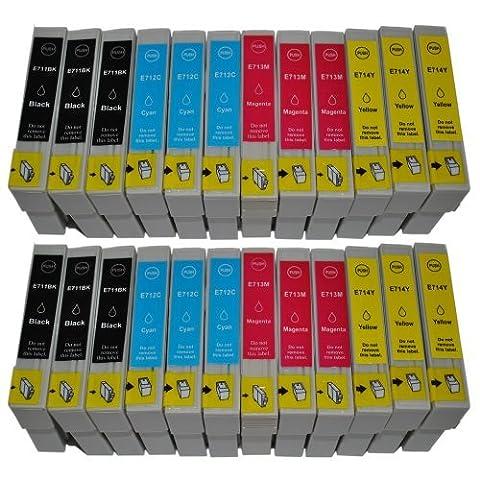 30x E715_2_FR Pack de 30 Cartouches Compatibles pour Imprimante Epson