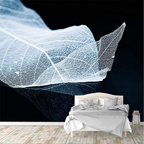 YUANLINGWEI Wandbild Tapete Benutzerdefinierte 3D Moderne Foto Wandbild Tapete Minimalist Blatt Und Ader Für Wohnzimmer Tv Hintergrund Home Decoration,130Cm (H) X 210Cm (W)