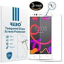 BQ Aquaris M5 Protector cristal templado - RE3O® 3 x Protector de pantalla cristal templado vidrio templado para BQ Aquaris M5 5,0'' pulgadas, Borde redondo elegante 2,5D, Fácil de instalar y sin burbujas de aire, Dureza 9H Anti-choque y Resistencia al desgaste a prueba de rasguños, Alta transparencia, Efecto anti-huella digital perfecto
