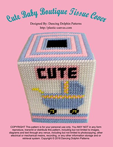 Cute Baby Boutique Tissue Cover: Plastic Canvas Pattern (English Edition)