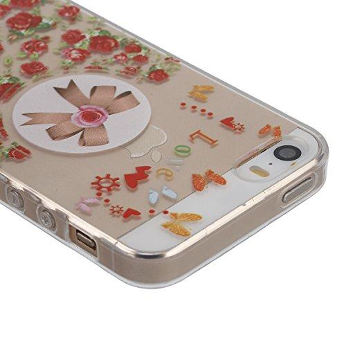 iPhone 6/6S 4.7 Custodia,Ukayfe Elegante Bling Design Particolari Colore Custodia in Gel TPU Silicone, Ultra Sottile Bumper Shell Cover e Cristallo Diamante Glitter Lucido morbido protettiva TPU Case  Rose Bow