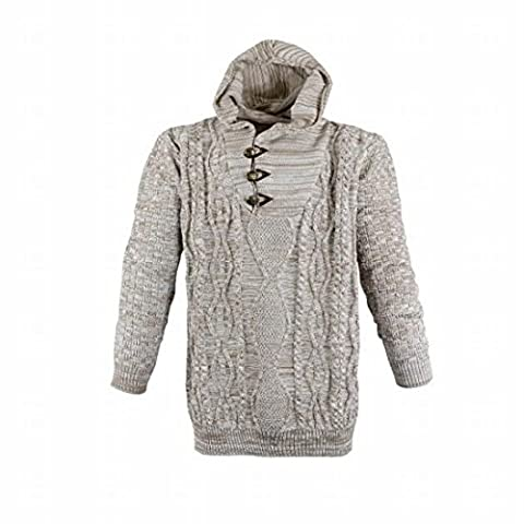 modischer Strick-Pullover Hoodie mit Kapuze von Lavecchia in Großen Größen