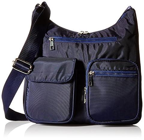 Suvelle Carryall RFID Travel Crossbody Bag, Handbag, Purse, Shoulder Bag, BA10 Navy