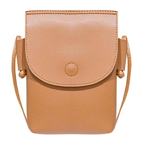 d593ec37a59c akaddy Women Mini Crossbody Bags PU Leather Pouch Shoulder Cell Phone Purse  Wallet