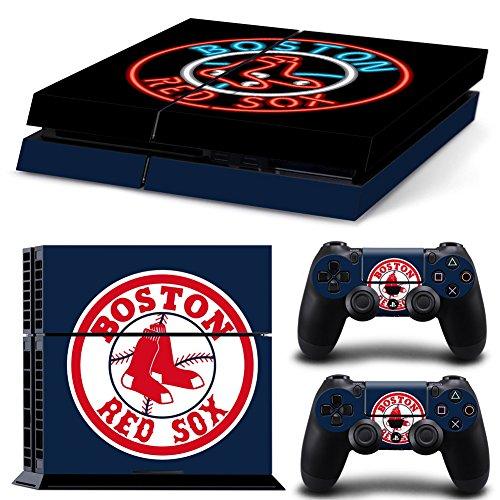 GameCheers PS4 Konsole and DualShock 4 Controller Skin Set - Baseball MLB - PlayStation 4 Vinyl Red Sox Video