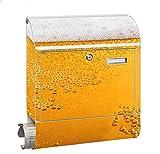 Design Motiv Briefkasten Maxi mit Zeitungsfach Zeitungsrolle für A4 Post slk shop Groß Bier