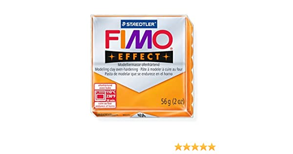 404 FIMO Effect Polymer Modelling Moulding Clay Block Oven Bake Colour 56g STAEDTLER FIMO Effect Transparent Orange Pack Of 1