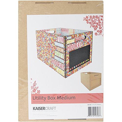 Kaisercraft au-delà de la Page MDF Medium Utility Box, 34,3 x 25,4 x 24,1 cm,