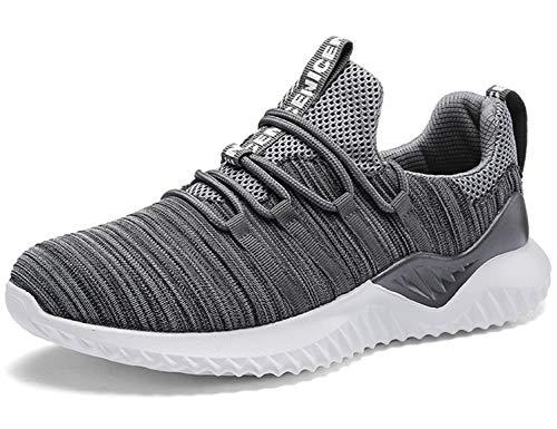 SINOES Herren Sportschuhe Atmungsaktiv Gym Turnschuhe Leichtgewicht Laufschuhe Lace up Freizeitschuhe Trainer Outdoor Sneaker Shoes -