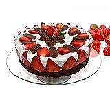 Piatto di portata vetro girevole Ø30 cm alzata per torta dolci supporto