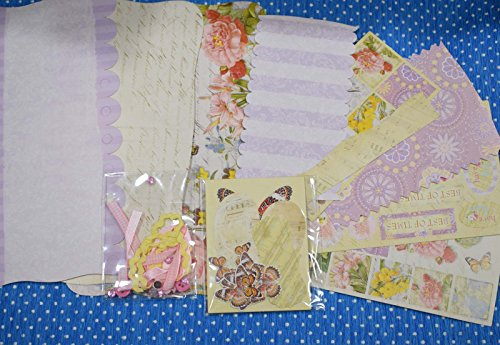 AsianHobbyCrafts Mini Book Kit by Eno Greeting : Contents Chipboard book, die cut shapes, die cut chipboard sheets, die cut paper sheets, pack of embellishments,Gift for Valentines Day.