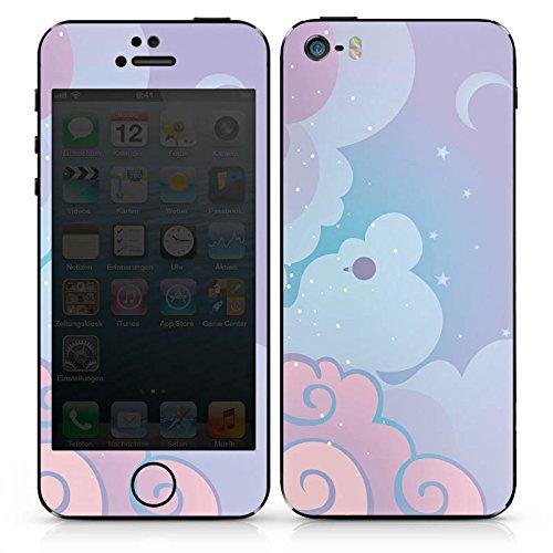 Apple iPhone SE Case Skin Sticker aus Vinyl-Folie Aufkleber Wolken Himmel Sterne DesignSkins® glänzend