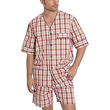 El Búho Nocturno Pijama de Caballero | Pijama de Hombre de Manga Corta clásico a Cuadros