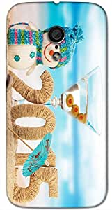 Timpax protective Armor Hard Bumper Back Case Cover. Multicolor printed on 3 Dimensional case with latest & finest graphic design art. Compatible with Motorola Moto -G-2 (2nd Gen )Design No : TDZ-24304