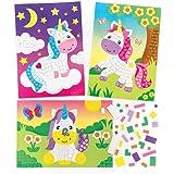 Baker Ross Kits de Licornes en mosaïque Que Les Enfants pourront fabriquer et Exposer(Lot de 4) - Loisirs créatifs pour Enfant