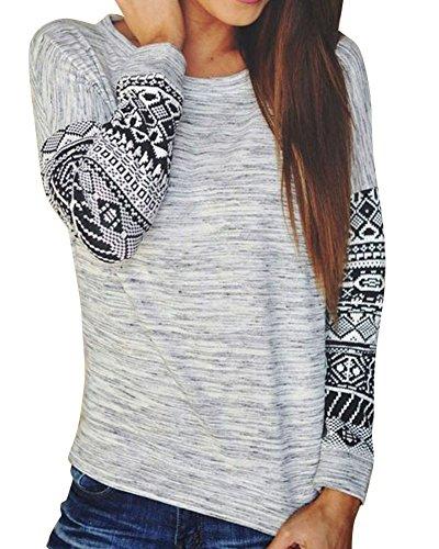 laozan-langarmshirts-casual-print-langarm-rundhalsausschnitt-pullover-sweatshirt-pulli-oberteile-gra