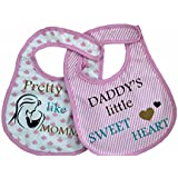 U-Grow Baby Bibs Set of 2 - Pink