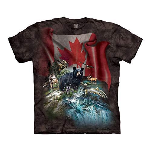 The Mountain Unisex-Erwachsene Canada The Beautiful T-Shirt, schwarz, X-Large