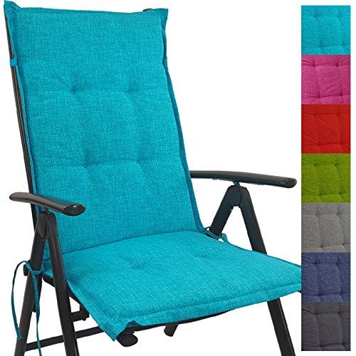 PROHEIM Hochlehner Auflage Outdoor 118 x 50 x 5,5 cm Schmutz- und wasserabweisendes Sitzkissen &...